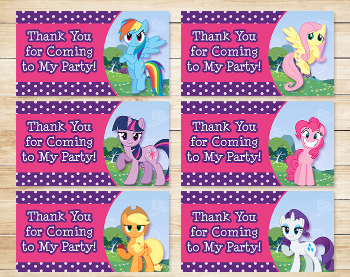 Free Printable My Little Pony Party Tags Free My Little Pony Printables