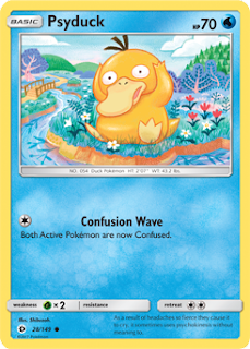 Psyduck Sun and Moon Pokemon Card