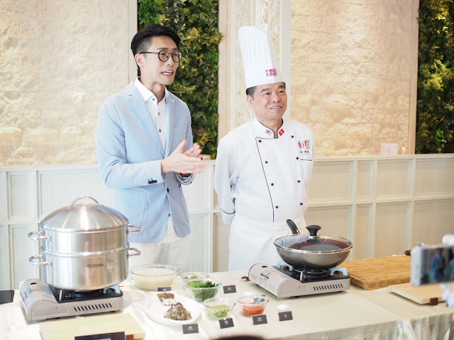 a cooking demonstration by Chef Yim Yu King together with Luk Ho Ming