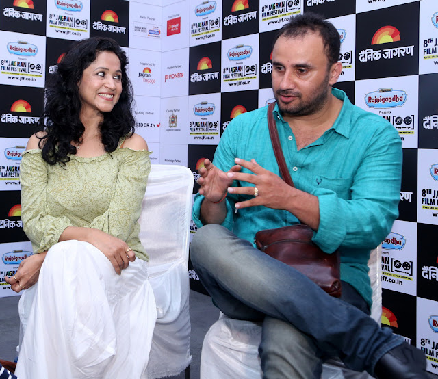 Actor Asmita Sharma and Director Pratik Sharma of Gutrun Gutergu) during day 4 at Jagran Film Festival