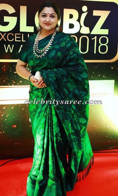 Kushboo Green Brasso Saree
