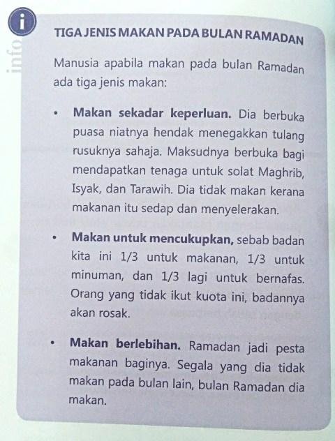 3 Jenis Makan Pada Bulan Ramadhan