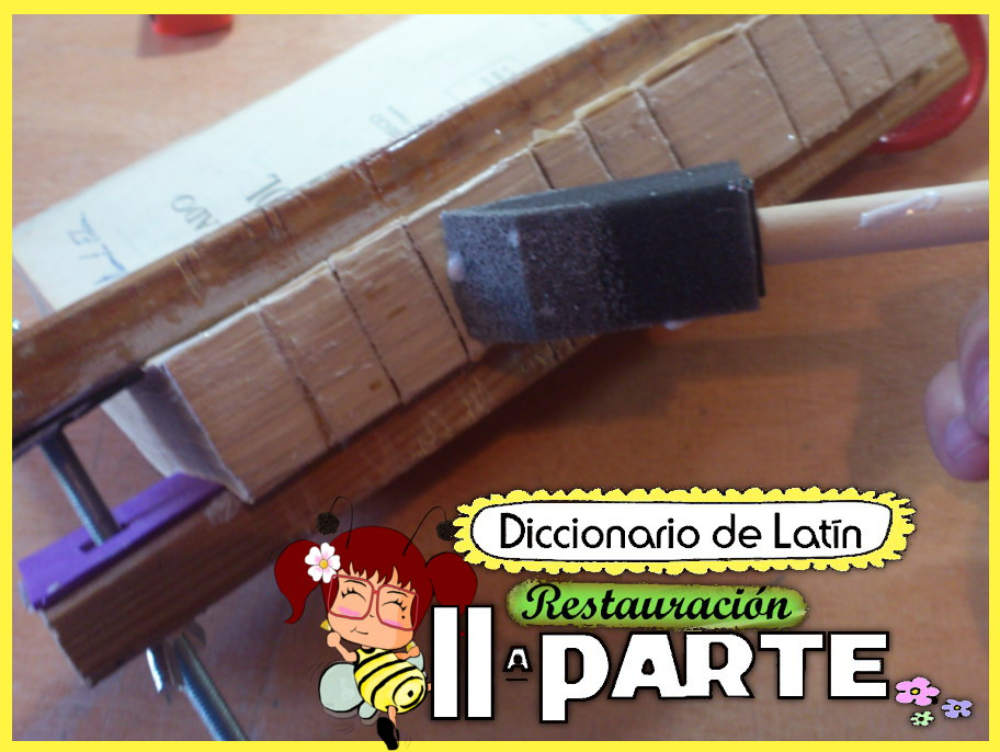 FPL Fountainpenland fountainpen estilografica Sandy Restauración de libros antiguos book restoration dictionary latin. DIY tutorial de restaural como arreglar un libro, encuadernacion de libros bookbinding