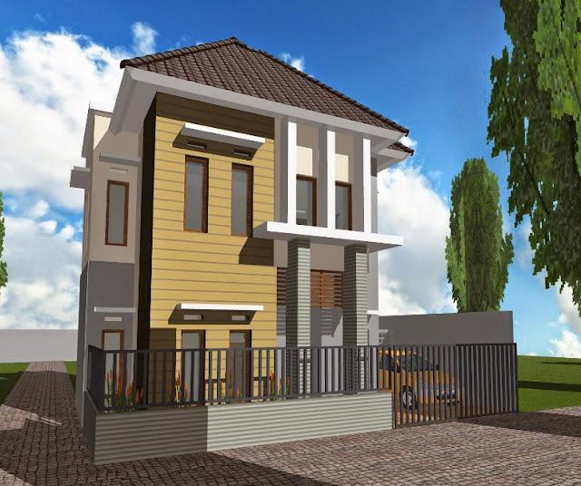 denah rumah minimalis 2 lantai type 21 tahun 2013