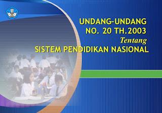 Poin Inti Undang-Undang Nomor 20 Tahun 2003 tentang Sistem Pendidikan Nasional