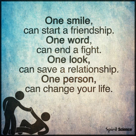 Quotes About Smile And Friendship Extraordinary One Smile Can Start A Friendshipone Word Can End A Fightone