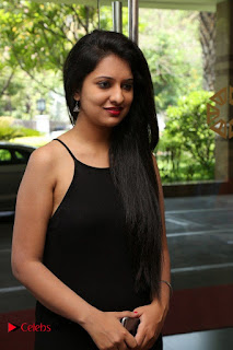 Actress Nikita Bisht Pictures in Black Long Dress at Akritti Elite Exhibition Launch  0001.jpg