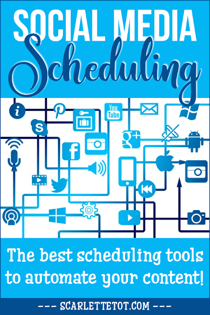 "Social Media Platform with text ""The Best Scheduling Tools to Automate Your Content"""