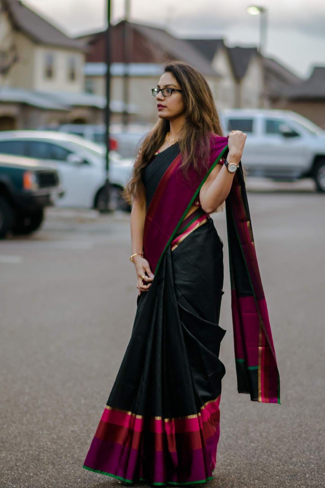 My Eternal Love for Saree - Diwali 2018; Aim for Glam; Indian Jewelry;Prasanthi Kadiyala;Saree Love; Diwali; Indian Fashion blogger; South Indian Fashion blogger; South Indian; Saree Lover;
