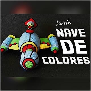 patron amigurumi Nave de colores sueños blanditos