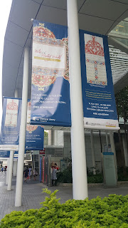 Tales of the Malay World banners outside the National Library Building.
