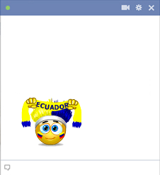Ecuador football fan emoticon