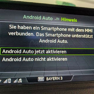 Screenshot: Android Auto im Audi Smartphoneinterface aktivieren
