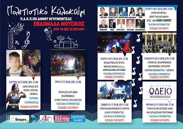 Εβδομάδα Μουσικής από την Φιλαρμονική του Δήμου Ηγουμενίτσας