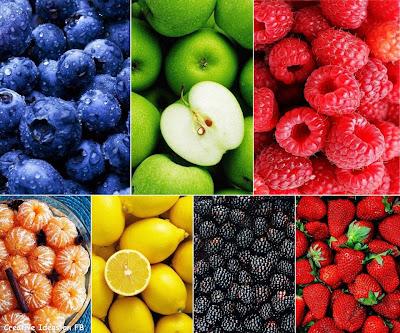 tumpukan buah-buahan