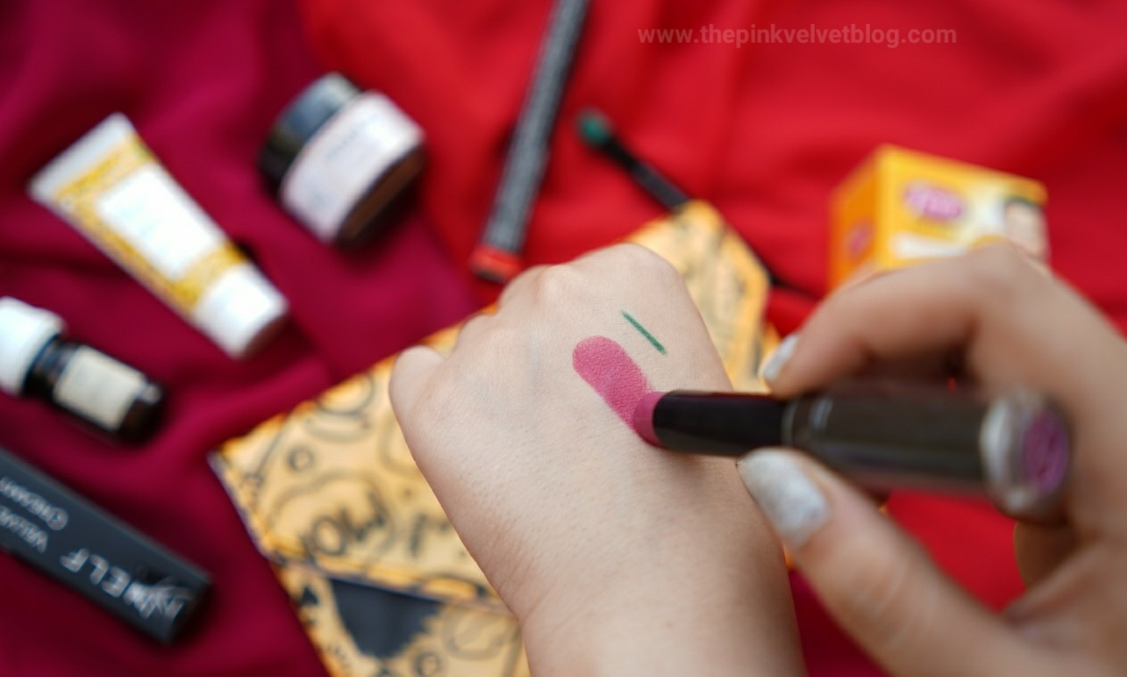 "May Fab Bag ""The Beauty Project"" - NELF USA Velvet Touch Creamy Matte Lipstick - Cosmos Pink - Swatch"