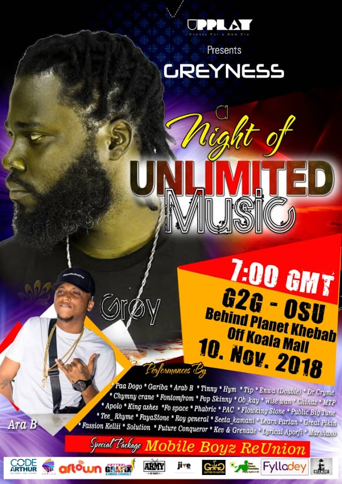 Get ready for Night of Unlimited Music dubbed 'GREYNESS' by UPPLAY on Novenber 10