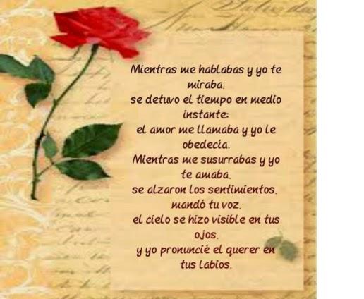 Poemas de amor cortos amistad enamorar ni os temas for Cena romantica para mi novio