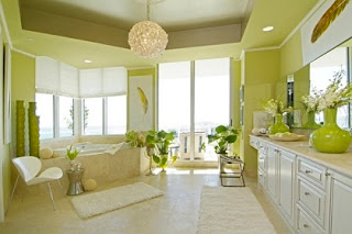 Baño verde limón