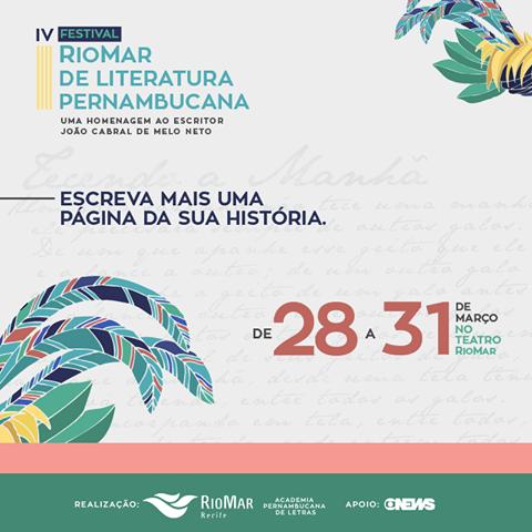 Festival RioMar de Literatura homenageia João Cabral de Melo Neto no Teatro RioMar