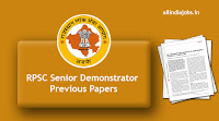 RPSC Senior Demonstrator Previous Papers