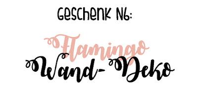 DIY-Geschenkidee N6: Wanddeko mit Flamingo-Motiv