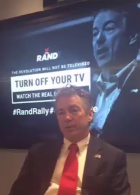 Rand Paul rally turn off your TV