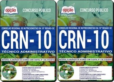 Apostila CRN-SC Técnico Administrativo 2018