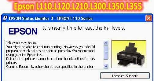 Pusat Modifikasi Printer Infus Cara Reset Manual Indikator Tinta