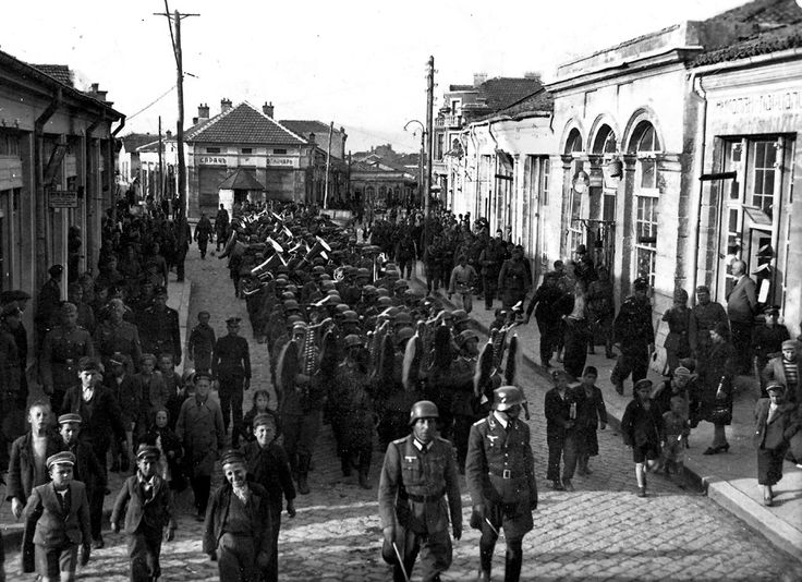 3 March 1941 worldwartwo.filminspector.com Germans in Karnobat Bulgaria