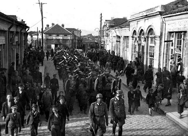 3 March 1941 worldwartwo.filminspector.com Germans in Karnobat Bulgaria
