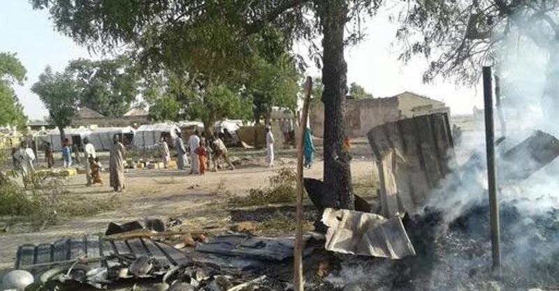 234 people buried aftermath Nigerian military bombing of Borno IDP
