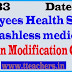 Go No 33 Health Scheme –Providing Cashless medical treatment-Certain Modification Go