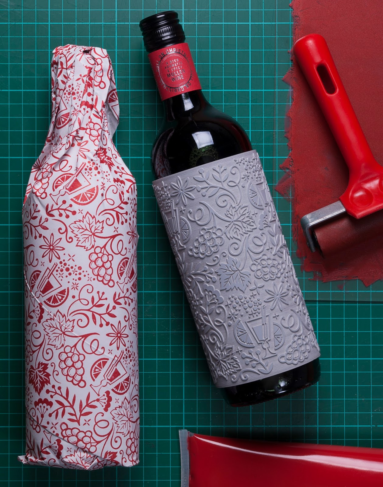 Wine Christmas Packaging.Roll On Christmas On Packaging Of The World Creative