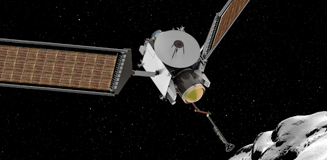 Artist's rendering of the CAESAR spacecraft acquiring a sample from the comet 67P/Churyumov–Gerasimenko. Image Credit: NASA