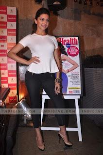 Deepika Padukone In White Top And Black Slack