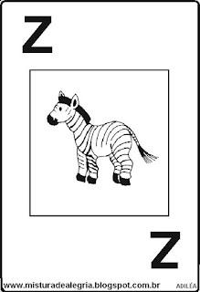Baralho alfabético letra Z