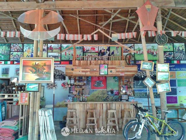Permainan Tradisional di Dusun Kreatif Medan Marindal