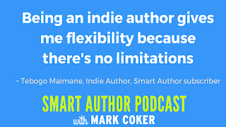"image reads:  ""Being an indie author gives me flexibility because there's no limitations"""