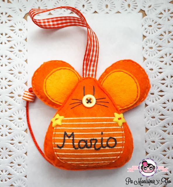 raton perez dientes monerias en fieltro pamonisimayo mario naranja