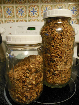 Maple Pecan Granola. Traditional oven baked or easy slow cooker directions.