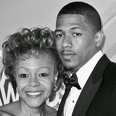 Nick Cannon with his mother