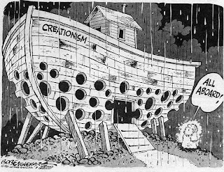 Funny creationism ark full of holes cartoon