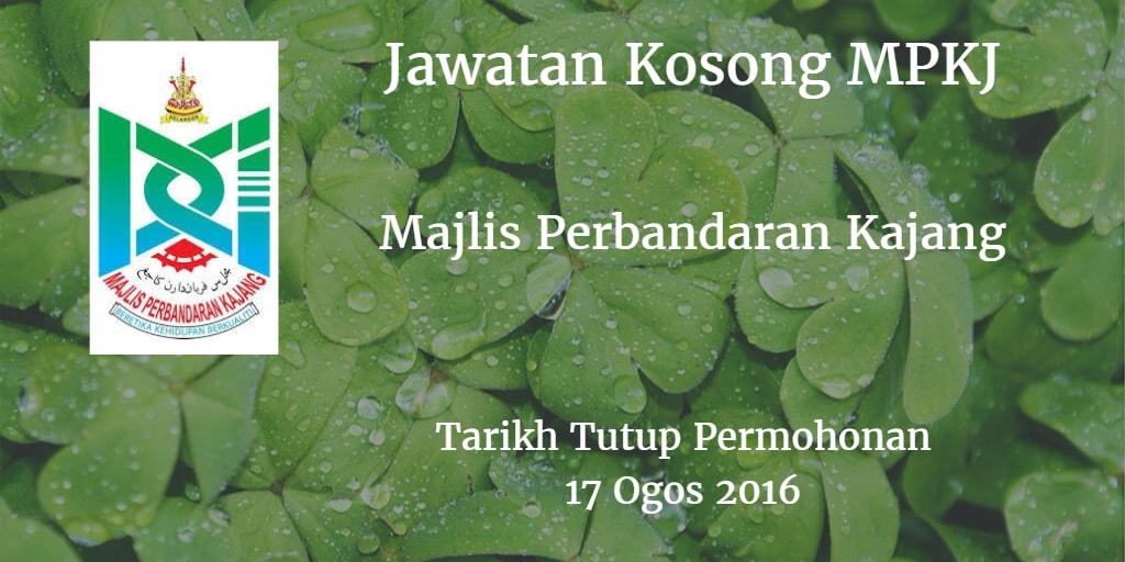 Jawatan Kosong MPKJ 17 Ogos 2016