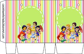 Cajas de  las Princesas Disney Bebés para imprimir gratis.