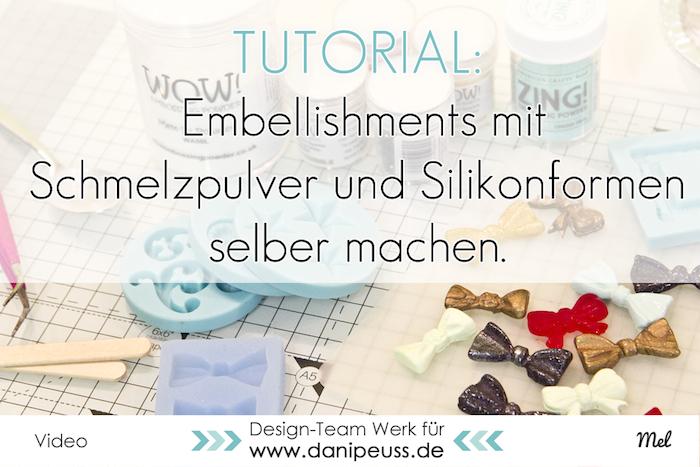 blog embellishments mit melt it powder von wow selber machen videoanleitung. Black Bedroom Furniture Sets. Home Design Ideas