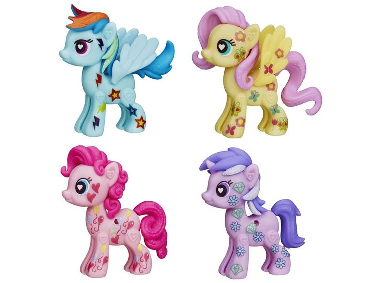 Hasbro POP Amethyst Star Rainbow Dash Fluttershy Pinkie Pie Wave 3 Basic Pony Figures