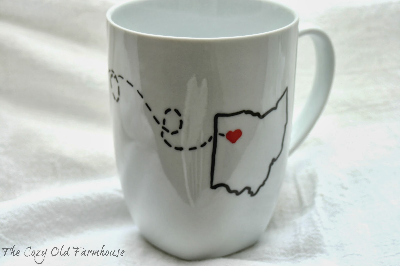 the cozy old farmhouse diy sharpie mug does it really work - Coffee Mug Design Ideas