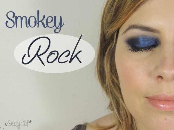 tutoriel maquillage smokey rock bleu nuit