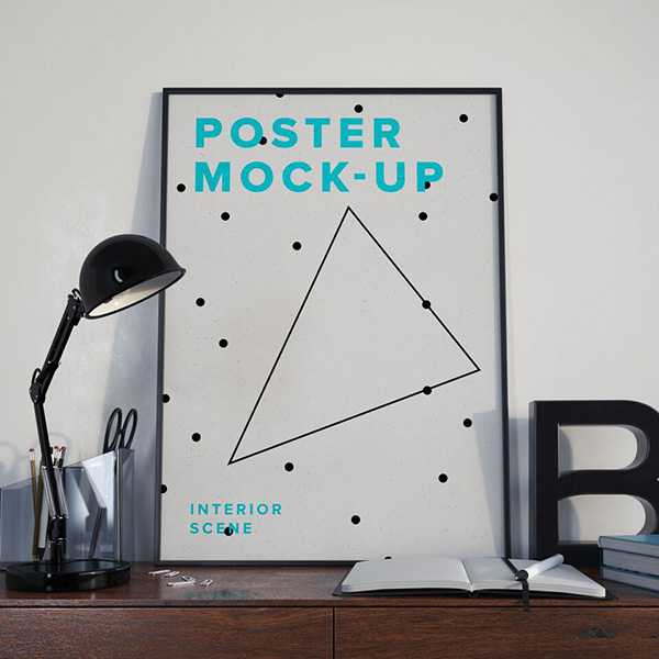 Download Poster Mockup PSD Terbaru Gratis - Poster MockUp PSD – Interior Scene